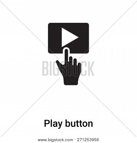Play Button Icon In Trendy Design Style. Play Button Icon Isolated On White Background. Play Button