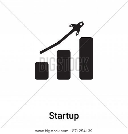 Startup Icon In Trendy Design Style. Startup Icon Isolated On White Background. Startup Vector Icon