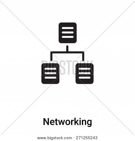 Networking Icon In Trendy Design Style. Networking Icon Isolated On White Background. Networking Vec