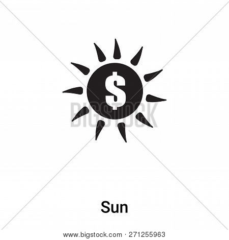 Sun Icon In Trendy Design Style. Sun Icon Isolated On White Background. Sun Vector Icon Simple And M