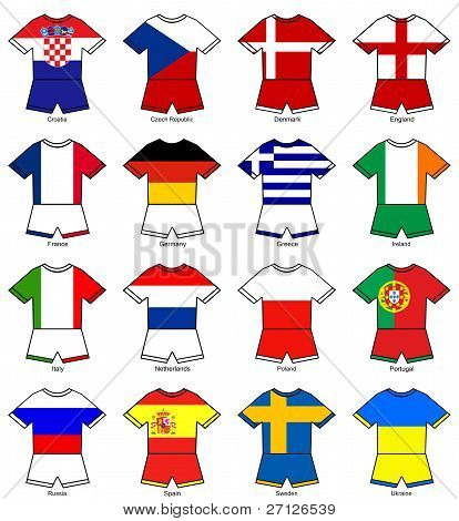 Euro 2012 European Championship Flag Strips