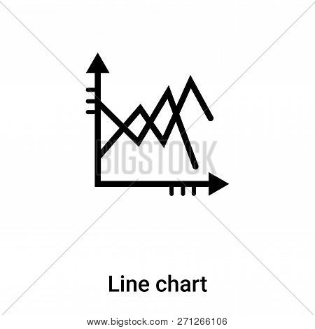 Line Chart Icon In Trendy Design Style. Line Chart Icon Isolated On White Background. Line Chart Vec