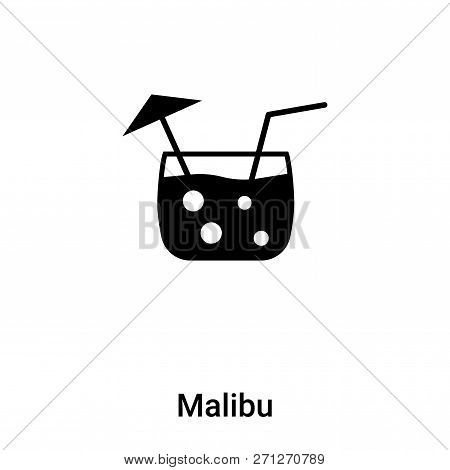 Malibu Icon In Trendy Design Style. Malibu Icon Isolated On White Background. Malibu Vector Icon Sim
