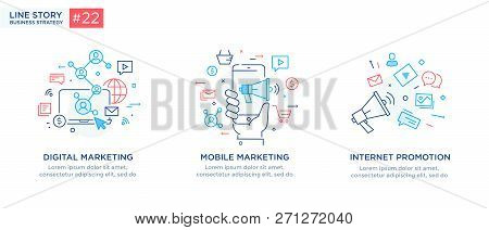 Set Of Illustrations Concept With Business Concept. Workflow, Growth, Graphics. Business Development