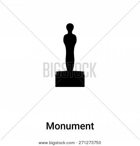 Monument Icon In Trendy Design Style. Monument Icon Isolated On White Background. Monument Vector Ic