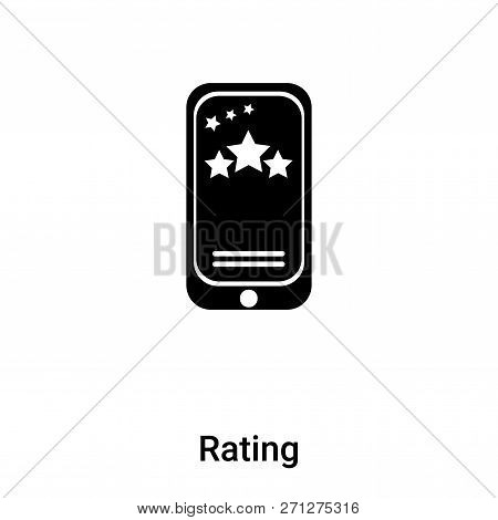 Rating Icon In Trendy Design Style. Rating Icon Isolated On White Background. Rating Vector Icon Sim