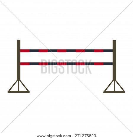 Training Barrier, Jumping Horse,equestrian Sport. Vector Illustration. Eps 10.