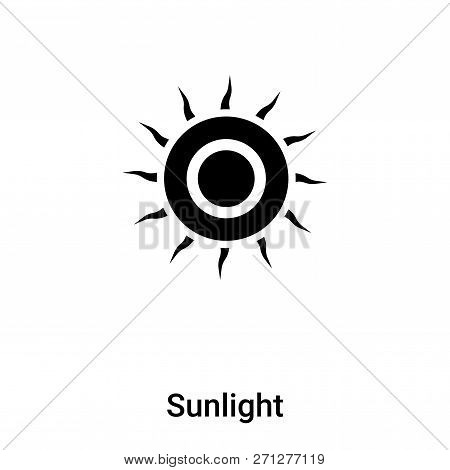 Sunlight Icon In Trendy Design Style. Sunlight Icon Isolated On White Background. Sunlight Vector Ic