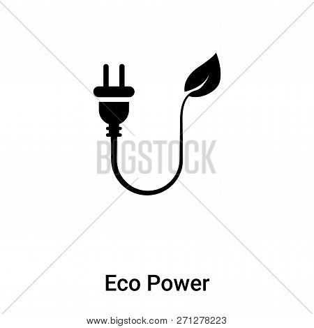 Eco Power Icon In Trendy Design Style. Eco Power Icon Isolated On White Background. Eco Power Vector