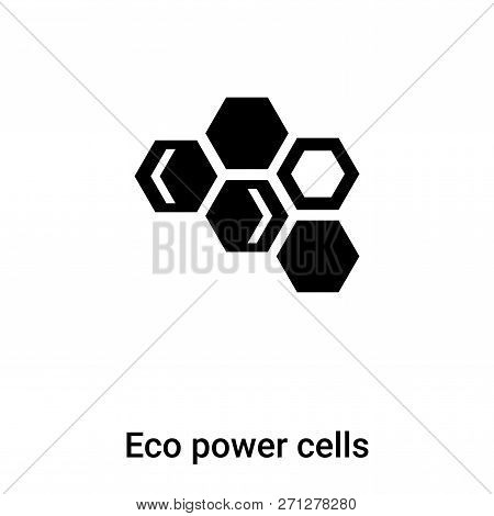 Eco Power Cells Icon In Trendy Design Style. Eco Power Cells Icon Isolated On White Background. Eco