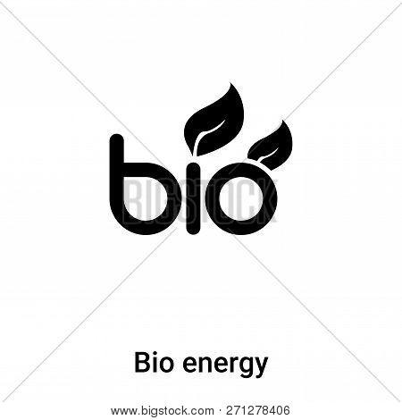 Bio Energy Symbol Icon In Trendy Design Style. Bio Energy Symbol Icon Isolated On White Background.