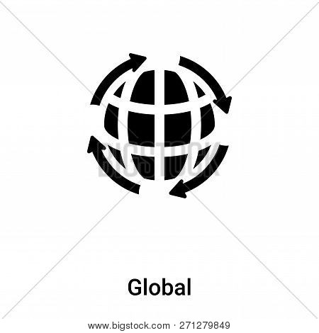 Global Icon In Trendy Design Style. Global Icon Isolated On White Background. Global Vector Icon Sim