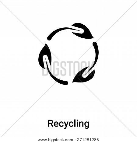 Recycling Symbol Icon In Trendy Design Style. Recycling Symbol Icon Isolated On White Background. Re