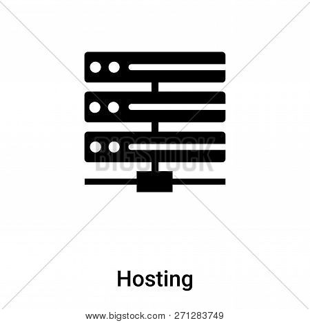 Hosting Icon In Trendy Design Style. Hosting Icon Isolated On White Background. Hosting Vector Icon