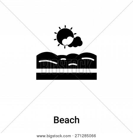 Beach Icon In Trendy Design Style. Beach Icon Isolated On White Background. Beach Vector Icon Simple