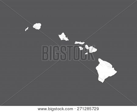 U.s. States - Map Of Hawaii. Hand Made. Rivers And Lakes Are Shown. Please Look At My Other Images O