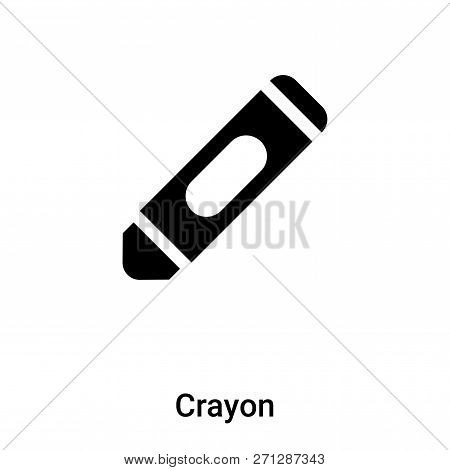 Crayon Icon In Trendy Design Style. Crayon Icon Isolated On White Background. Crayon Vector Icon Sim