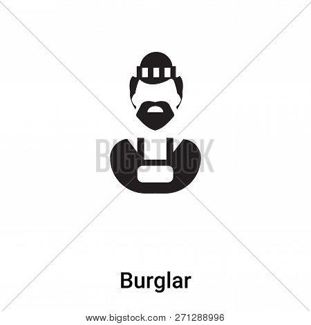Burglar Icon In Trendy Design Style. Burglar Icon Isolated On White Background. Burglar Vector Icon