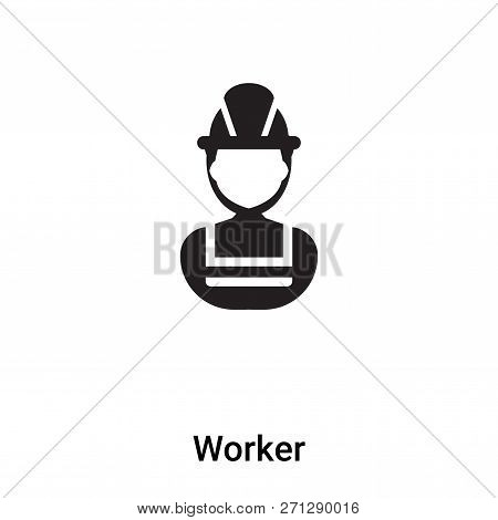 Worker Icon In Trendy Design Style. Worker Icon Isolated On White Background. Worker Vector Icon Sim