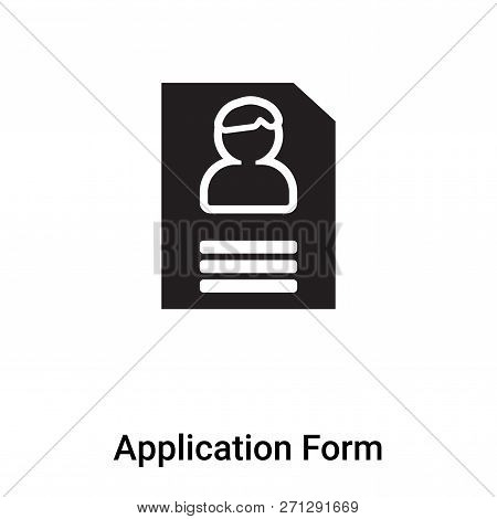 Application Form Icon In Trendy Design Style. Application Form Icon Isolated On White Background. Ap