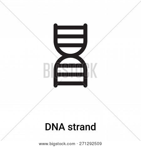 Dna Strand Icon In Trendy Design Style. Dna Strand Icon Isolated On White Background. Dna Strand Vec