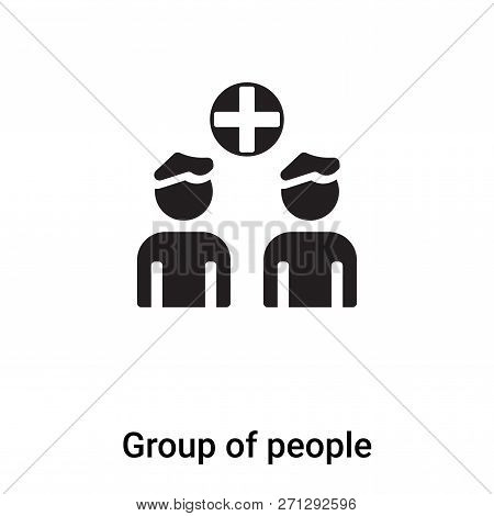 Group Of People Icon In Trendy Design Style. Group Of People Icon Isolated On White Background. Grou