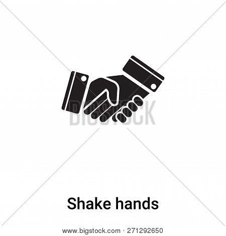 Shake Hands Icon In Trendy Design Style. Shake Hands Icon Isolated On White Background. Shake Hands