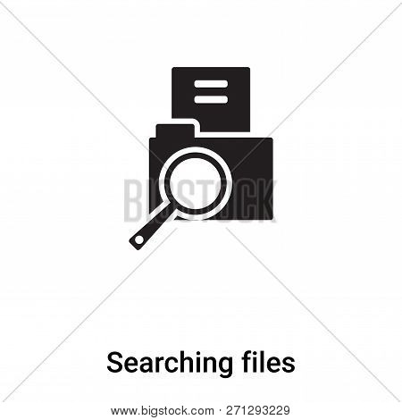 Searching Files Icon In Trendy Design Style. Searching Files Icon Isolated On White Background. Sear
