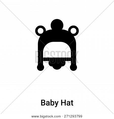 Baby Hat Icon In Trendy Design Style. Baby Hat Icon Isolated On White Background. Baby Hat Vector Ic