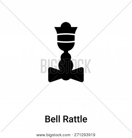Bell Rattle Icon In Trendy Design Style. Bell Rattle Icon Isolated On White Background. Bell Rattle