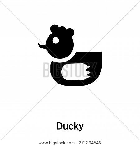 Ducky Icon In Trendy Design Style. Ducky Icon Isolated On White Background. Ducky Vector Icon Simple