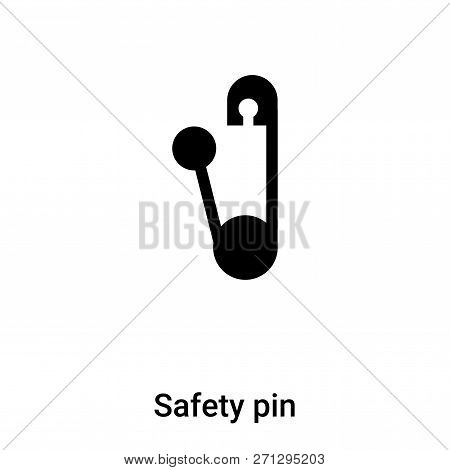 Safety Pin Icon In Trendy Design Style. Safety Pin Icon Isolated On White Background. Safety Pin Vec
