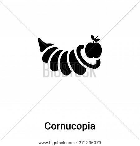 Cornucopia Icon In Trendy Design Style. Cornucopia Icon Isolated On White Background. Cornucopia Vec