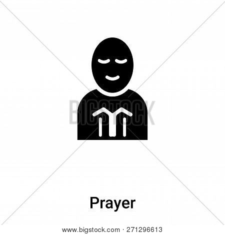 Prayer Icon In Trendy Design Style. Prayer Icon Isolated On White Background. Prayer Vector Icon Sim