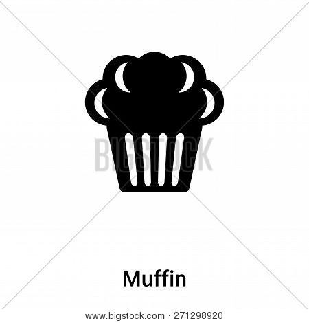 Muffin Icon In Trendy Design Style. Muffin Icon Isolated On White Background. Muffin Vector Icon Sim