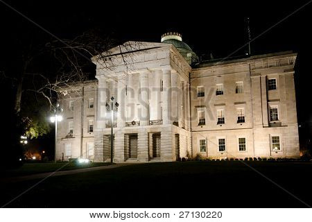 North Carolina State Capitol at night
