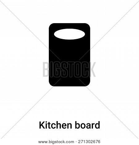 Kitchen Board Icon In Trendy Design Style. Kitchen Board Icon Isolated On White Background. Kitchen