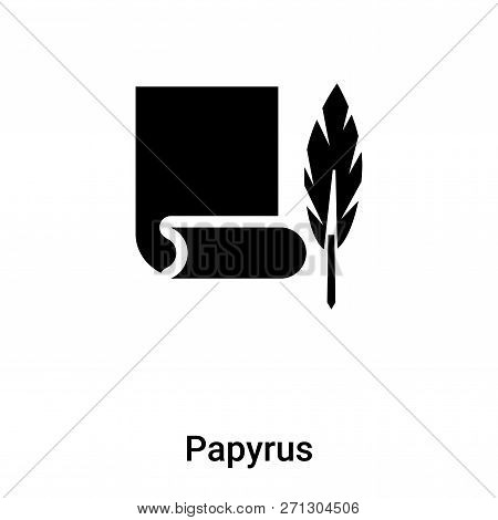 Papyrus Icon In Trendy Design Style. Papyrus Icon Isolated On White Background. Papyrus Vector Icon