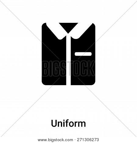 Uniform Icon In Trendy Design Style. Uniform Icon Isolated On White Background. Uniform Vector Icon