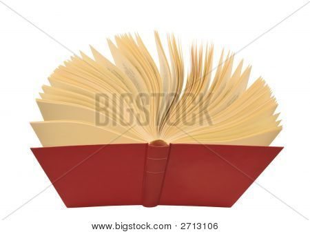 Open Red Book Isolated