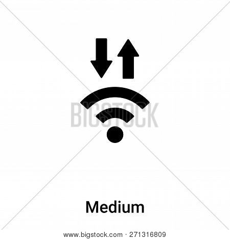 Medium Signal Icon In Trendy Design Style. Medium Signal Icon Isolated On White Background. Medium S