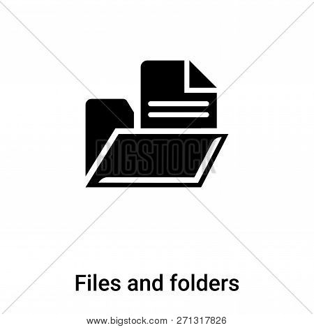 Files And Folders Icon In Trendy Design Style. Files And Folders Icon Isolated On White Background.