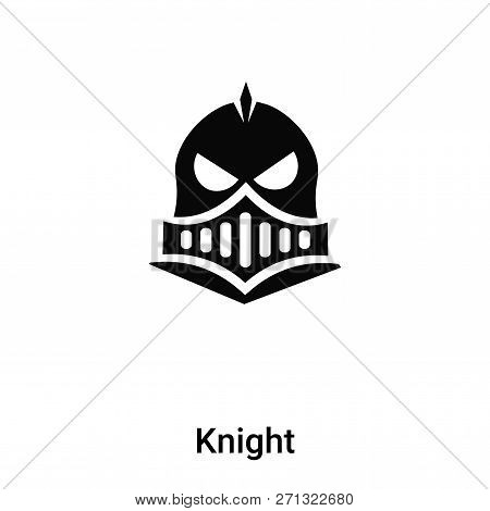 Knight Icon In Trendy Design Style. Knight Icon Isolated On White Background. Knight Vector Icon Sim