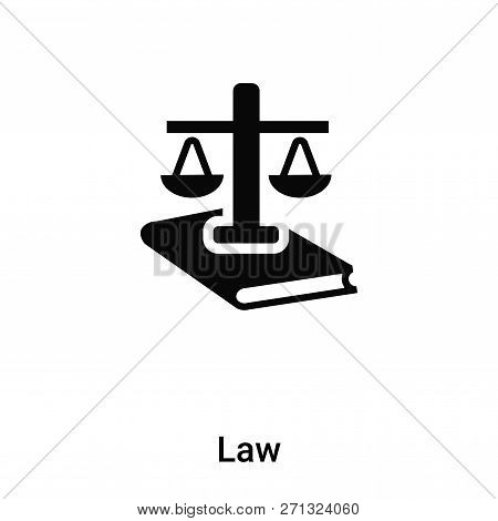 Law Icon In Trendy Design Style. Law Icon Isolated On White Background. Law Vector Icon Simple And M