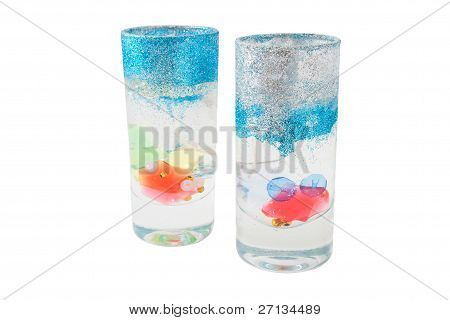 Two Glass Candles