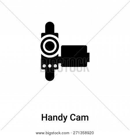 Handy Cam Icon In Trendy Design Style. Handy Cam Icon Isolated On White Background. Handy Cam Vector