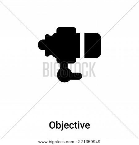 Objective Icon In Trendy Design Style. Objective Icon Isolated On White Background. Objective Vector