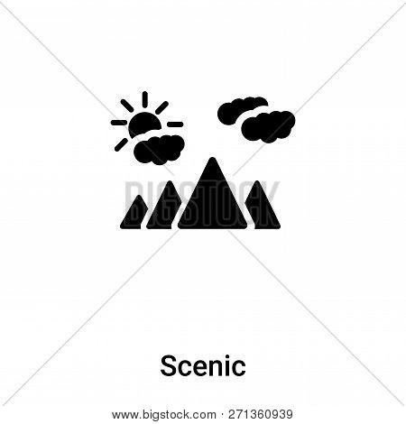 Scenic Icon In Trendy Design Style. Scenic Icon Isolated On White Background. Scenic Vector Icon Sim