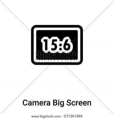 Camera Big Screen Size Icon In Trendy Design Style. Camera Big Screen Size Icon Isolated On White Ba