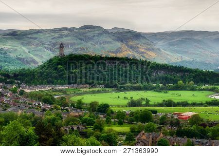The National Wallace Monument From Stirling Castle, Scotland